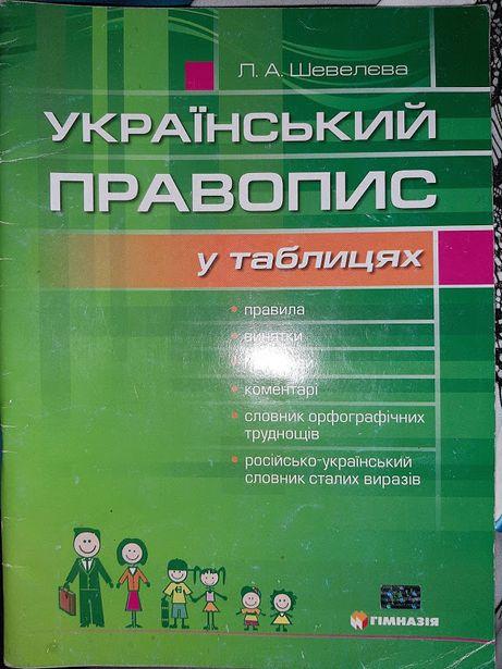 Український правопис у таблицях