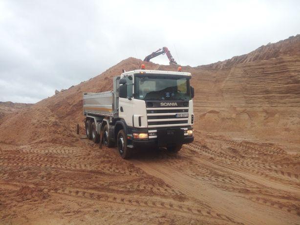 Transport wywrotka piach płukany wywóz gruzu gliny kruszywo piasek