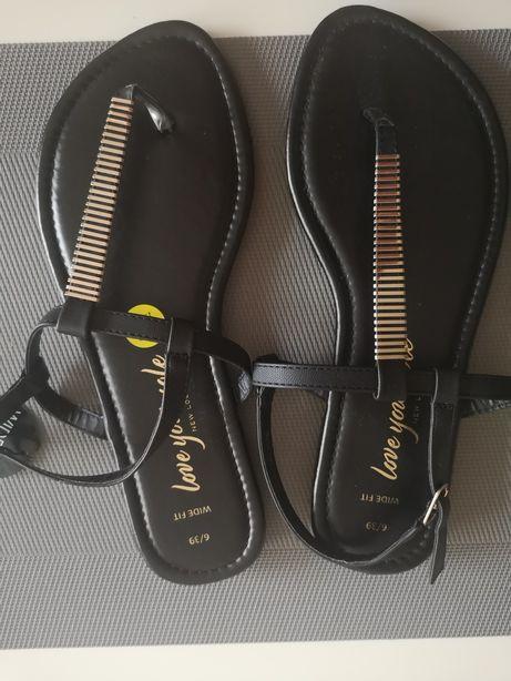 Japonki sandałki new look czarne