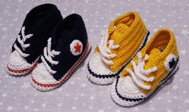 CONVERSE - Ténis Crochet 0/3 meses - 2 pares