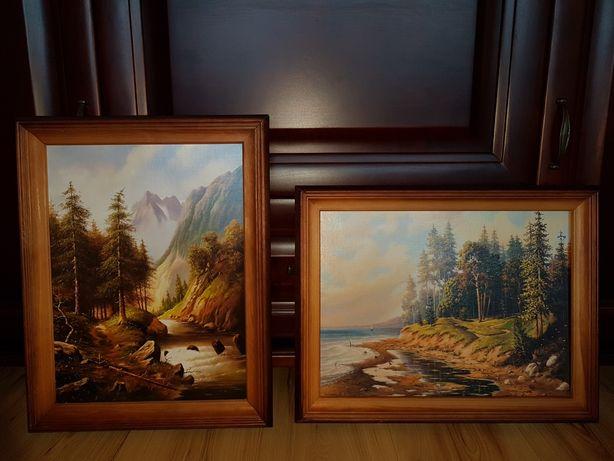 Drewniane ramki' obrazy' obraz piekny widok