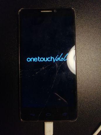 Alcatel Onetouch Idol Srebrny - pęknięty ekran