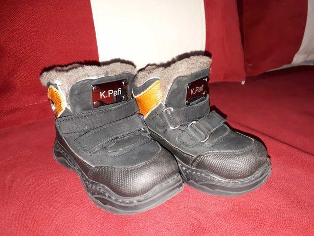 Зимние ботинки,21р,натуральная кожа и мех,kemal pafi,турция