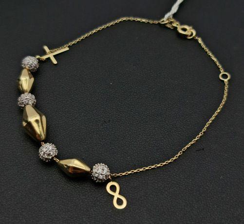 Złota bransoletka P585 4,07g 19cm LOM95