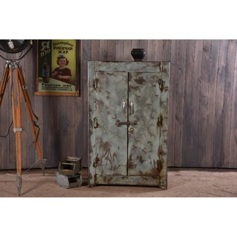 Шкаф в стиле лофт, промышленный металлический шкаф, ретро декор, сейф