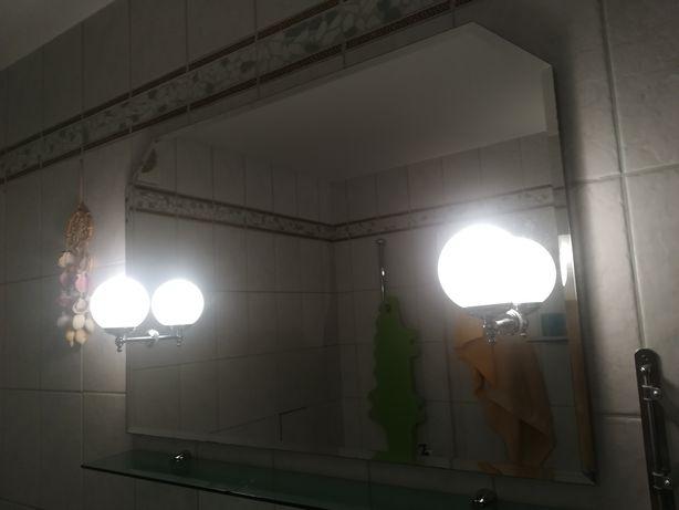 Duże lustro lazienkowe 95x65 z 2 kinkietami Do NEGOCJACJI