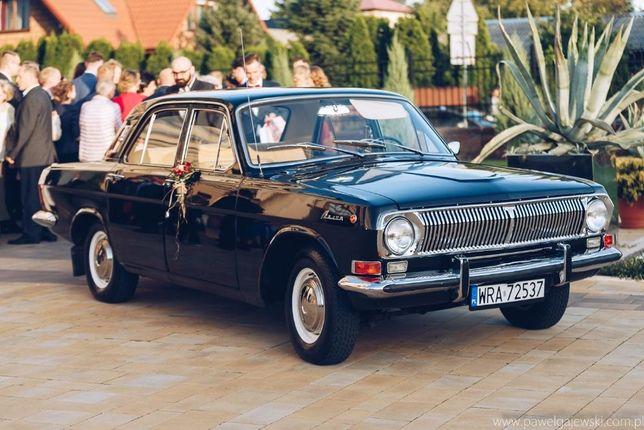Czarna Wołga GAZ 24 auto do ślubu