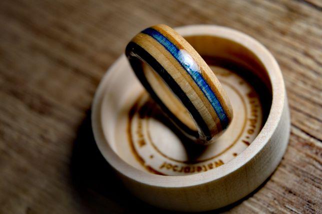 """Ręcznie robiony, pierścionek z klonu kanadyjskiego """"UNISEX"""""""