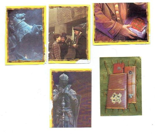 Harry Potter naklejki Panini m.in złota