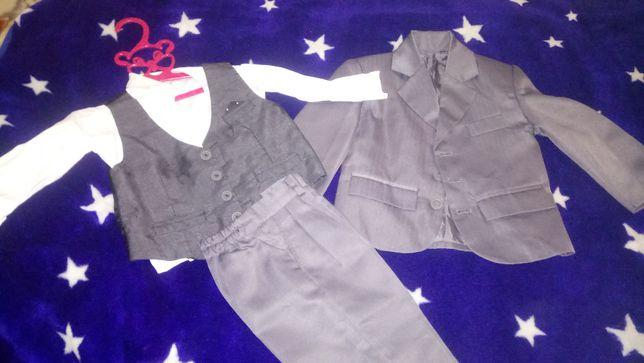Костюм классический детский пиджак рубашка жилет брюки сорочка штани