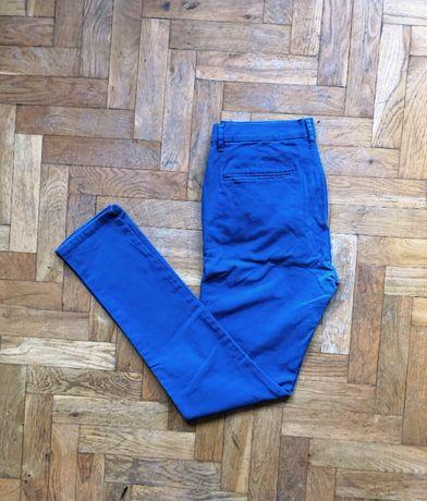 Spodnie chino chinosy TOPMAN 32 Stretch Skinny niebieskie