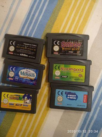 Gameboy advance sonic3 mermaid spiderman 1 e 2 scooby doo
