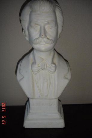 Figurka J.STRAUSS odlew gipsowo-alabastrowy