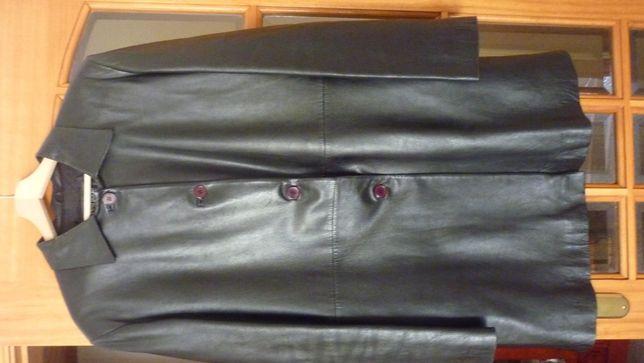 Casaco de Pel Preto , XL