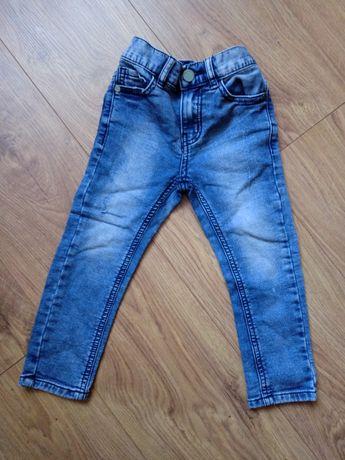 Jeansy rurki niebieskie spodnie z przetarciami Next 98