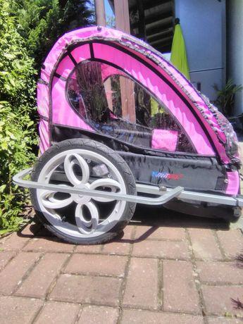 Przyczepa do roweru dla dzieci dwuosobowa .