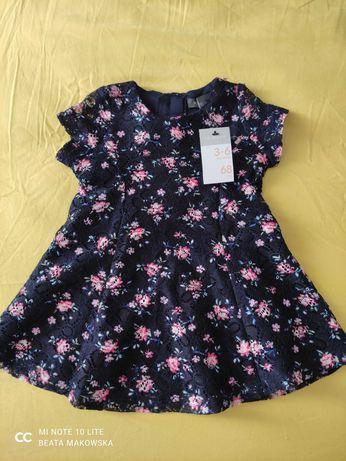 Śliczna nowa koronkowa sukienka Primark 62-68