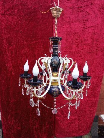 Люстра хрусталь керамика Италия