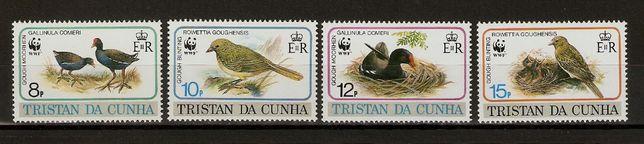 Sprzedam czyste znaczki o tematyce ptaki Tristan da Cunha 1991 stan**