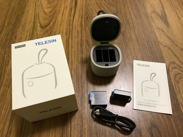 Зарядный бокс Telesin и 2 батареи GoPro HERO7