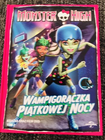 DVD i książka Monster High stan idealny