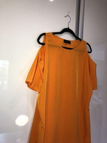 Jasnopomarańczowa sukienka Mohito rozmiar 38