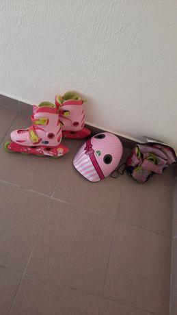 Patins em linha para criança e acessórios