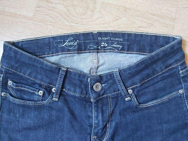 Levis jeansy dżinsy skinny 26
