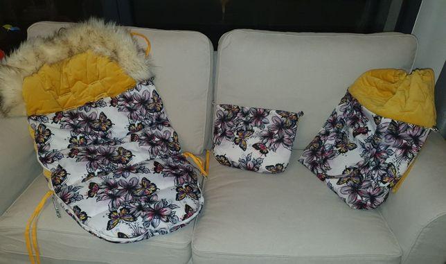 Śpiworek do wózka i dwie torby