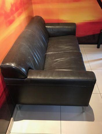 Sofa czarna 2 osobowa