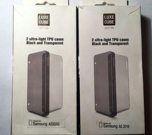 Силиконовые накладки на Samsung A5, А510F, A5100. Сeрый и белый. Новые