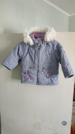 Детский зимний комбинезон и куртка на рост 86