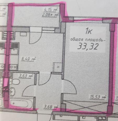 Продаётся Собственная однокомнатная квартира в ЖК 7 Небо. РАССРОЧКА!!!