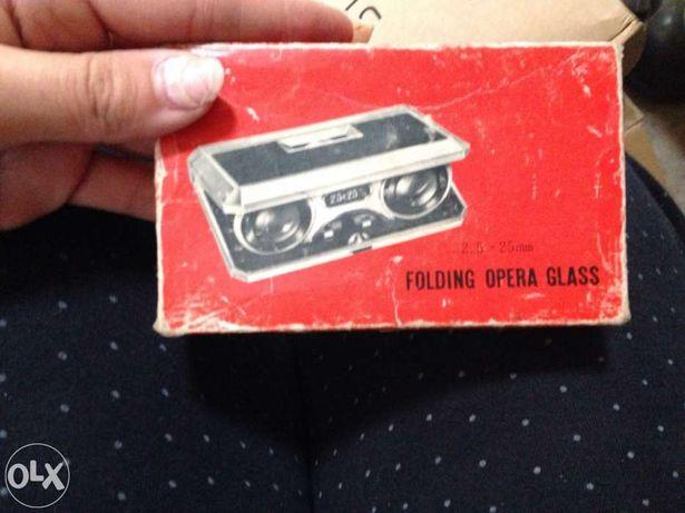 Binóculos de colecção - folding opera glass novos em caixa
