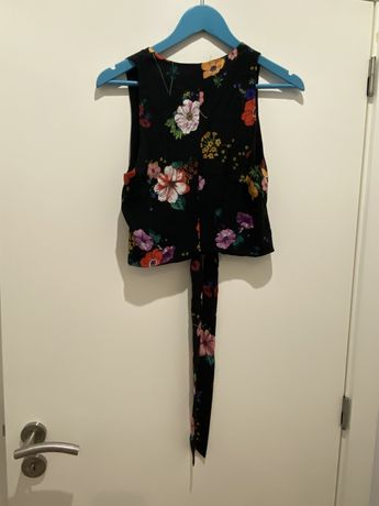 Top da Zara tamanho S - florido