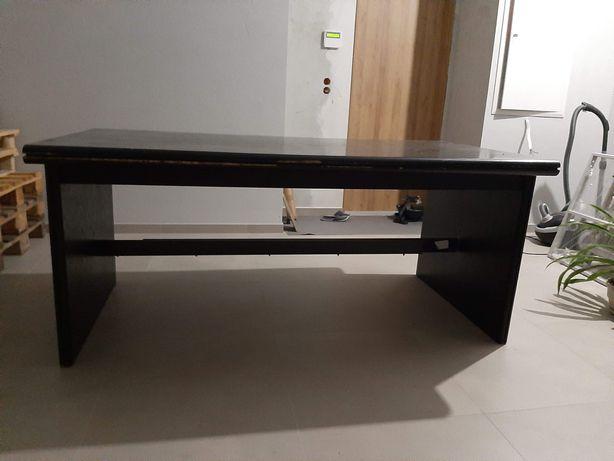 Stół czarny 100 x 180 cm