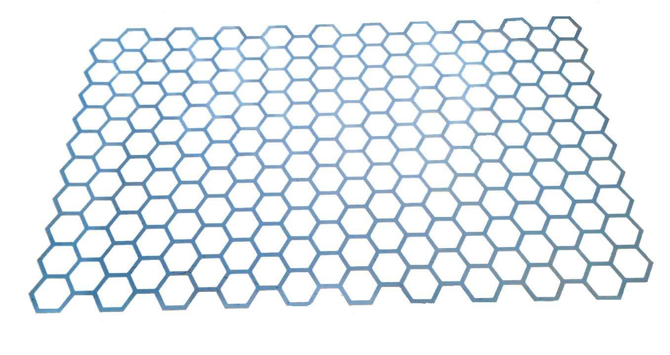 Большой многоразовый трафарет из пластика соты (шестигранники)