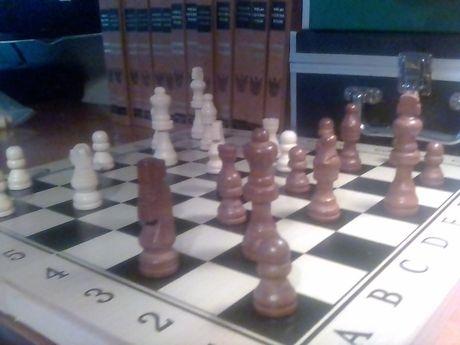 szachy - warcaby drewniane