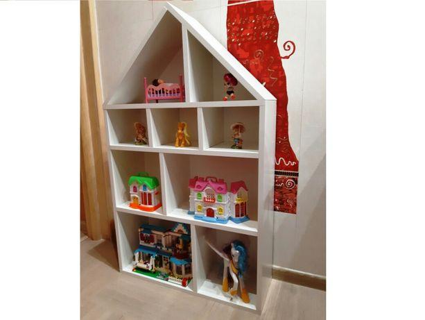 КРАСИВЫЙ белый ДОМИК для игрушек, кукол 60*100 см!!!