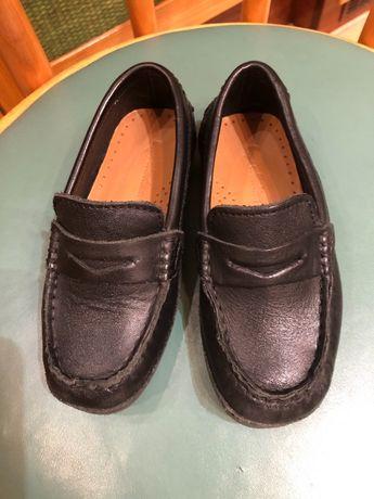 Mokasyny Czarne ze skóry firmy Zara roz. 26