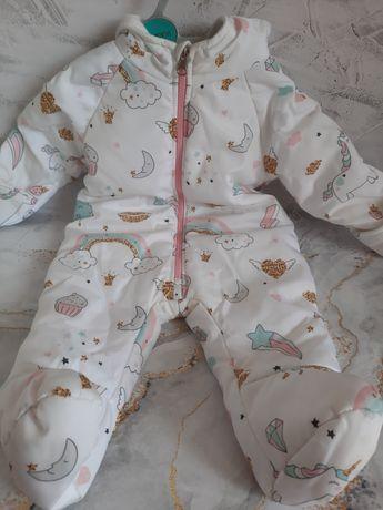 Детский демисезонный комбинезон на девочку,6-9 мес.