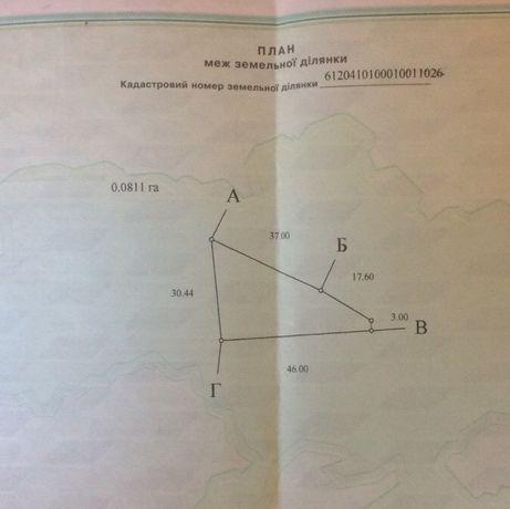 Продам земельну ділянку м.Бережани (Тернопільська область)