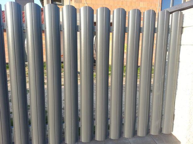 SZTACHETY METALOWE na ogrodzenie Srebrna i Grafit dwustronna