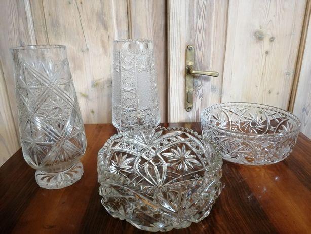 Szkło  PRL wazon misa patera salaterka