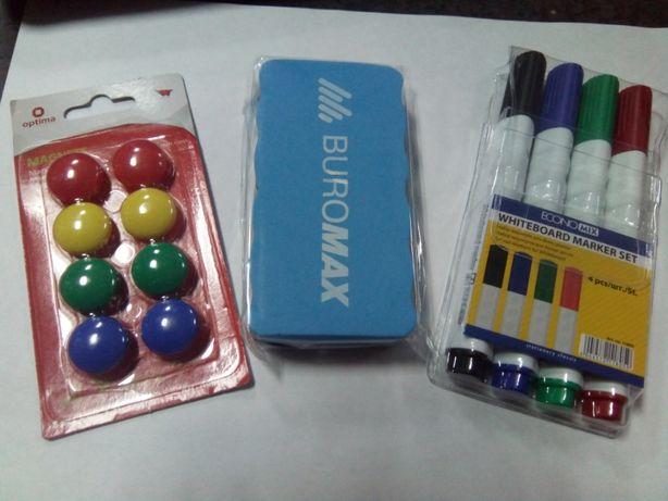 Набор для маркерных досок (маркеры, губка, магниты)