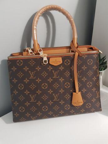 Piękna torebka pojemna mon9gram canvas Palmas cudo karmel