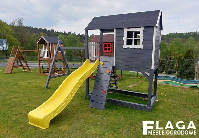 Plac zabaw ze wspinaczką,piaskownicą,zjeżdżalnią ,2x huśtawka nr.PZ001