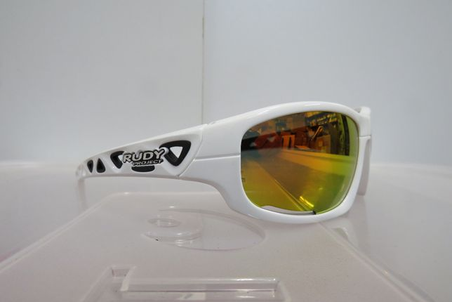 Okulary Rowerowe Rudy Project AirGrip White Gloss