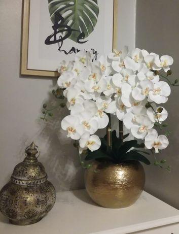Vaso com 6 orquídeas artificiais