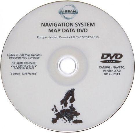 NISSAN - DVD Atualização GPS Connect Premium 2 - XANAVI X7 Europa & RU